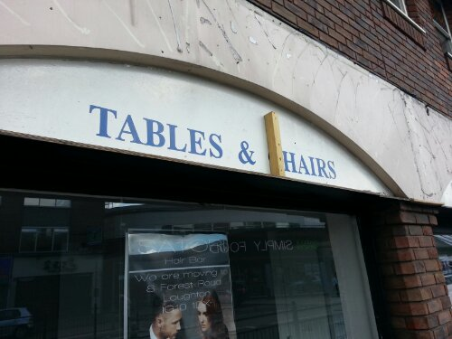 Tables and hairs
