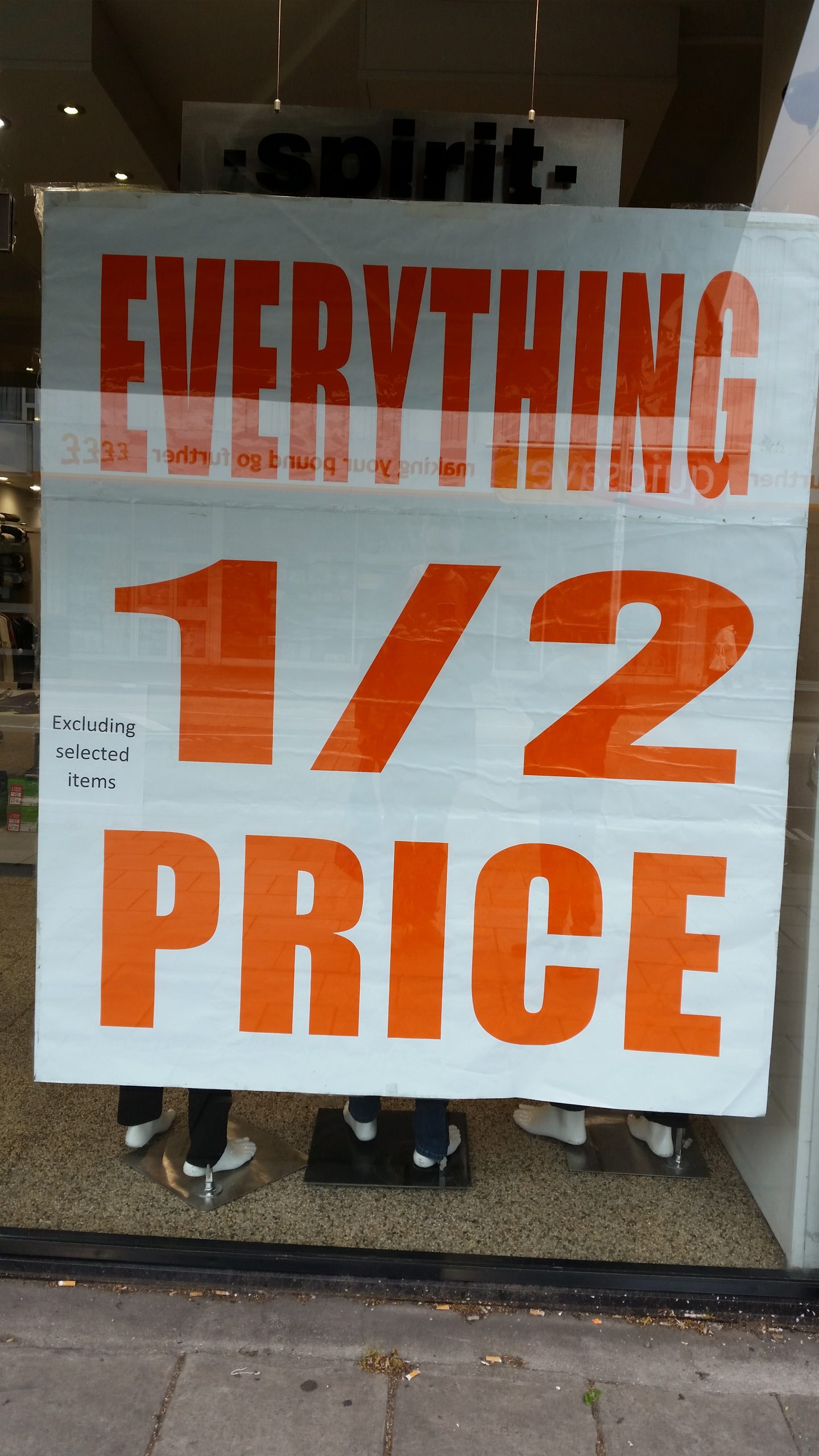 Everything Half Price